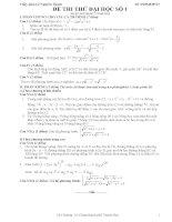 Đề thi thử đại học môn Toán có lời giải chi tiết số 1