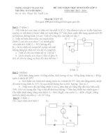 Tổng hợp đề thi HSG Vật Lý lớp 9  (9)