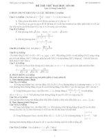 Đề thi thử đại học môn Toán lời giải chi tiết số 101