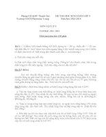 Tổng hợp đề thi HSG Vật Lý lớp 9  (14)