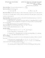 Đề kiểm tra học kì 1 môn Toán lớp 11 số 1