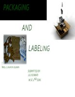 Packaging and labeling of apparel and tetiles