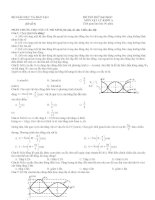 Đề luyện thi đại học môn Vật lý số 9