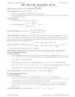 Đề thi thử đại học môn Toán lời giải chi tiết số 58