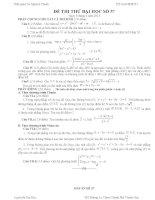 Đề thi thử đại học môn Toán lời giải chi tiết số 57
