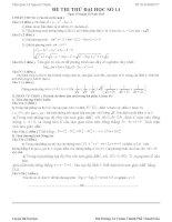 Đề thi thử đại học môn Toán có lời giải chi tiết số 14