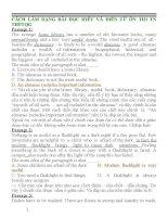 CÁCH làm DẠNG bài đọc HIỂU và điền từ môn ANH ôn THI TN THPT QUỐC GIA