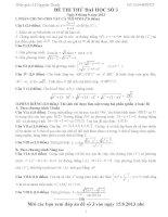 Đề thi thử đại học môn Toán có lời giải chi tiết số 3