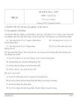 Đề kiểm tra 1 tiết Vật Lý 11 - Đề số (43)