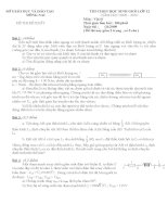 Đề thi HSG 12 vòng 2 Tỉnh Đồng Nai (đề tham khảo) môn vật lý