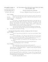 đề thi gv dạy giỏi cấp huyện môn hóa học, đề 4