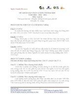 Đề thi lịch sử lớp 12 - sưu tầm đề và đáp án thi sử tham khảo (25)