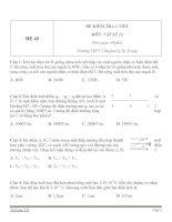 Đề kiểm tra 1 tiết Vật Lý 11 - Đề số (48)