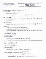 Đề thi học kì II môn toán lớp 10 tỉnh Bắc Ninh năm học 2013 - 2014(có đáp án chi tiết)