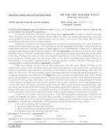 Đề thi thử lần 2 - 2014 - Môn Tiếng anh - Trường THPT Chuyên Lê Quý Đôn - Quảng Trị