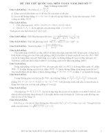 Đề thi thử THPT Quốc gia môn Toán số 77
