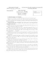 đề thi gv dạy giỏi cấp huyện môn hóa học, đề 3