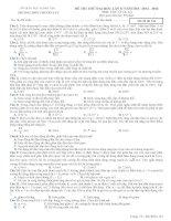 25 đề sưu tầm thi thử THPT Quốc gia môn vật lý (cớ lời giải chi tiết năm 2014) (7)