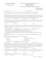 SỞ GD và đào tạo VĨNH PHÚC đề KHẢO sát CHẤT LƯỢNG ôn THI THPT QUỐC GIA lần 1 môn SINH
