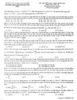Đề thi thử THPT Chuyên Nguyễn Huệ lần 1-2015 có đáp án môn vật lý