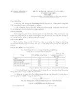 SỞ GD và đào tạo VĨNH PHÚC đề KHẢO sát CHẤT LƯỢNG ôn THI THPT QUỐC GIA lần 1 môn địa