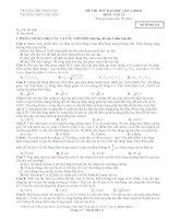 Đề thi thử Đại Học Sư Phạm Hà Nội Lần 1 môn vật lý