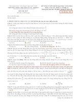 Đề Thi Thử Lần 1 Chuyên Lý Tự Trọng-Cần Thơ 2014 môn vật lý có đáp án (8)