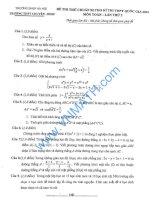 đề toán thi thử THPT QG năm 2015 đề số 180