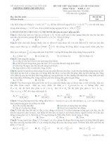 ĐỀ THI THỬ LẦN III NĂM 2014 CHUYÊN YÊN BÁI CÓ ĐÁP ÁN môn vật lý (3)