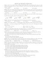 Đề ôn tập học kì 1 lớp 10 số 3 môn vật lý