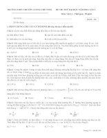 Đề thi thử đại học môn vật lý trường THPT lương thế vinh môn vật lý
