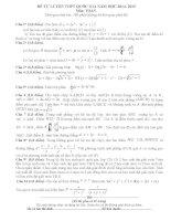 Đề tự luyện thi THPT Quốc gia môn toán số 20