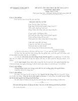 SỞ GD và đào tạo VĨNH PHÚC đề KHẢO sát CHẤT LƯỢNG ôn THI THPT QUỐC GIA lần 1 môn  văn