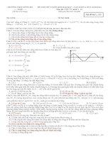 Đề Thi thử đại học Trường THPT Đông Hà, lần 2 môn vật lý (có đáp án)
