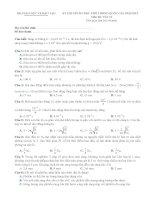 Đề ôn thi THPT quốc gia môn Vật lý số 9