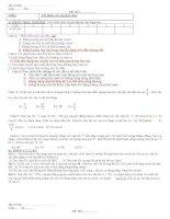 Bài kiểm tra 1 tiết thứ nhất trong HK2 Vật lý 10 nâng cao