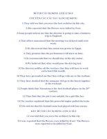 Đề THI CÂU Bị ĐộNG ANH 12 Số 3