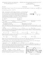 Đề thi thử quốc gia 2015 môn vật lý