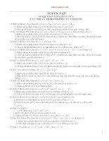Lớp 12 - Tuyển tập 99 bài toán về cực trị và tính đơn điệu của hàm số