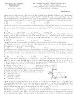 Đề thi thử đại học trường chuyên KHTN Hà Nội năm 2014 - lần 1 môn vật lý