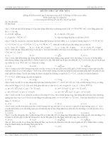 Kiểm tra cấp tốc đề số 2 Vật Lý trước ngày thi THPT Quốc gia