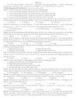 15 ĐỀ ÔN THI Tốt Ngiệp Trung Học Phổ Thông môn vật lý ĐỀ SỐ 9