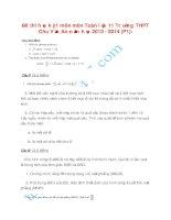 Đề thi học kỳ 1 môn môn Toán lớp 11 Trường THPT Chu Văn An năm học 2013 - 2014 (P1)