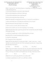 ĐỀ THI THPT Quốc Gia CHUYÊN ĐHSP LẦN 3 môn vật lý