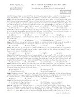 THỬ SỨC TRƯỚC KÌ THI THPT QUỐC GIA 2015 - LẦN 1 môn vật lý