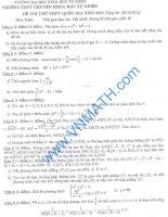 đề toán thi thử THPT QG năm 2015 đề số 185