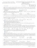 Đề thi thử Đại Học lần 2 năm 2014 THPT chuyên Lương Văn Tụy môn vật lý (6)