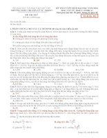 Đề Thi Thử Lần 1 Chuyên Lý Tự Trọng-Cần Thơ 2014 môn vật lý có đáp án (5)