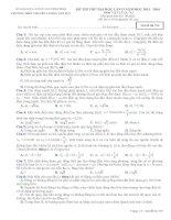 Đề thi thử Đại Học lần 2 năm 2014 THPT chuyên Lương Văn Tụy môn vật lý (7)