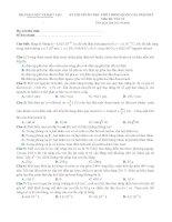 Đề ôn thi THPT quốc gia môn Vật lý số 10